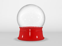 Empty Holiday Snow Globe Stock Photography