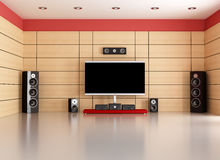 Empty home cinema room Royalty Free Stock Images