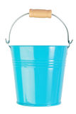 Blue, empty, home gardening bucket. Stock Image