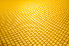 Empty honeycomb grid in perspective Royalty Free Stock Images