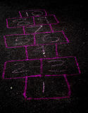 Empty Hopscotch Board Royalty Free Stock Photos