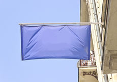 Empty horizontal banner flag Royalty Free Stock Photo
