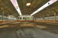 Empty horse arena Stock Photos