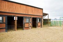 Empty Horse Barn Stock Photography