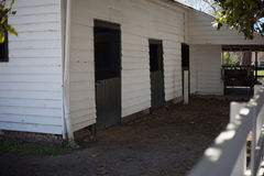 Empty horse barn in Charleston royalty free stock photos