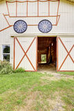 Empty horse barn exterior Royalty Free Stock Images