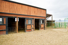 Empty horse barn Stock Photography