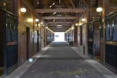 Empty horse stable. Inside view of a empty horse stable. Sea Pines Resort on Hilton Head Islannd Stock Photo