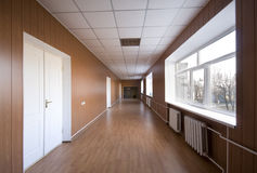 Empty hospital hall Stock Photos