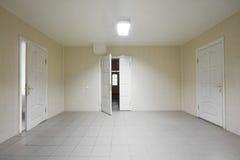 Empty hospital hall. With the doors Royalty Free Stock Photos
