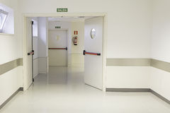Empty hospital hall Royalty Free Stock Photos