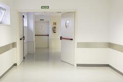 Empty hospital hall. With white walls, medicine Royalty Free Stock Photos