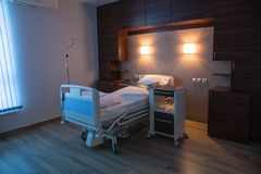 Empty hospital room for one client. royalty free stock images