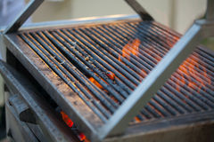 Empty Hot Barbecue Cast Iron Grill Royalty Free Stock Photos