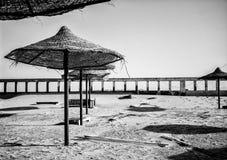 Empty Hotel Beach Royalty Free Stock Photography