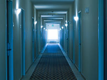 Empty hotel corridor Stock Photos