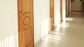 empty hotel corridor into the coronavirus a pandemic. bankruptcy of hostel hotel in coronavirus no people losses. empty