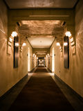 Empty hotel corridor Royalty Free Stock Photos
