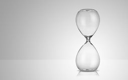 Empty hourglass Stock Image