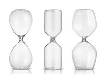 Empty hourglasses. On white background Stock Photo
