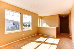 Empty house interior. Bright room with windows Stock Image