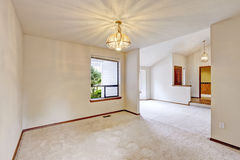 Empty house interior with open floor Stock Photography