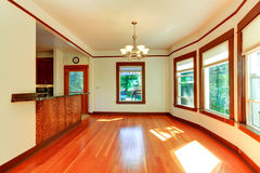 Empty house interior in soft ivory with brown trim Royalty Free Stock Images