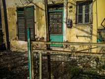 Empty house. Old house in Corfu Royalty Free Stock Photo