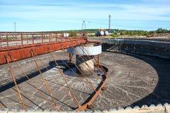 Empty huge sedimentation settler tank. Empty huge round form sedimentation settler tank Stock Images