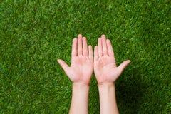 Empty human hands Stock Image