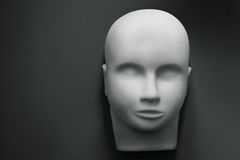 Empty human mannequin head Royalty Free Stock Images