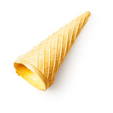 Empty ice cream cone Stock Images