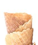 Empty ice cream corn Stock Photography