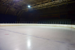 Empty ice rink, hockey arena Royalty Free Stock Images