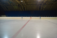Empty ice rink, hockey arena Stock Photos