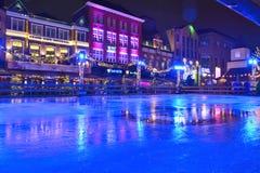 Empty ice-skating playground Royalty Free Stock Photography