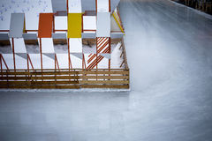 Ice rink. Empty ice skating rink in Gorky Park Stock Photography