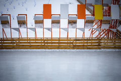 Ice skating rink. Empty ice skating rink outdoors in Gorky Park, Moscow Stock Image