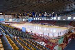Empty ice stadium Royalty Free Stock Image
