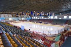 Empty ice stadium Royalty Free Stock Photo