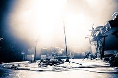 Empty Illuminated Stage Royalty Free Stock Photo