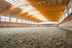 Empty indoor riding hall Stock Photo