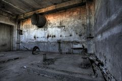 Empty industrial factory Royalty Free Stock Photo