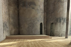 Empty industrial hall Royalty Free Stock Photography