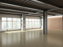 Empty industrial interior stock illustration