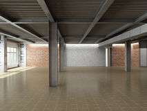 Empty industrial interior Royalty Free Stock Images