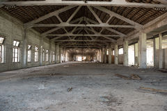 Empty industrial loft in an architectural background Royalty Free Stock Image