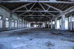 Empty industrial loft in an architectural background Stock Image