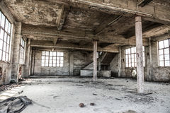 Empty industrial loft in an architectural background Stock Photography