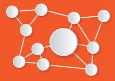 Empty infogram net with orange royalty free stock image
